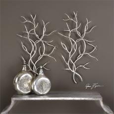 Silver Branches Wall Decor  S/2