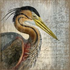 Red Heron Wall Art