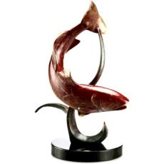 Shallowwater Fighter (redfish) Sculpture Set of 2