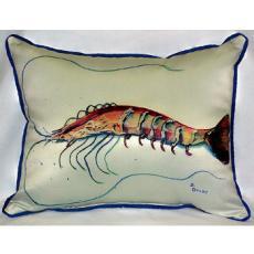 Betsy'S Shrimp Indoor Outdoor Pillow