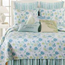 St Augustine Bedding and 2 Striped Shams Set