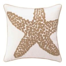 Starfish Embroidered Pillow