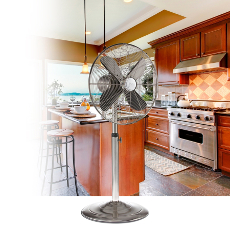 Classic Metal Stainless Steel Floor Fan