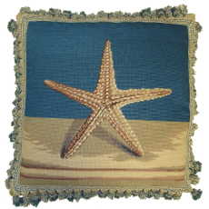 Star Fish Needlepoint Pillow
