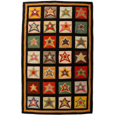 Star Patch Sampler Handcrafted Penny Rug