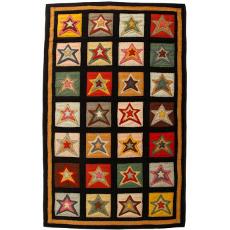 Star Patch Sampler Handcrafted Penny Rug