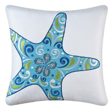 Meridian Starfish Embroidered Pillow