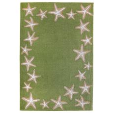 """Starfish Border Indoor/Outdoor Rug Green 7'6""""x 9'6"""""""
