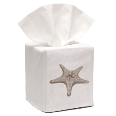 Morning Starfish Tissue Box Cover- Beige