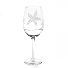 Starfish White Wine Glasses Set of 4