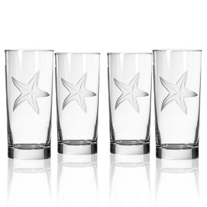 Starfish Cooler Glass (set of 4)