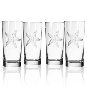 Palm Tree Cooler Glasses (Set of 4)