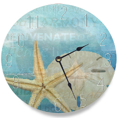Starfish and Sand Dollar Clock