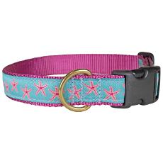 """Starfish Aqua 1"""" Dog Collar"""