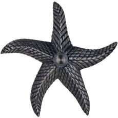 Brass Starfish Doorbell in Pewter