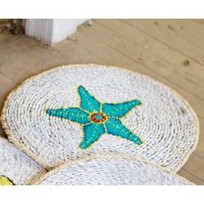 Round Starfish Rush Grass Mat