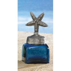 Starfish Square Glass Jar