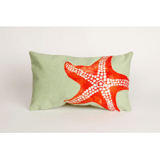 Starfish Seafoam Oblong Pillow