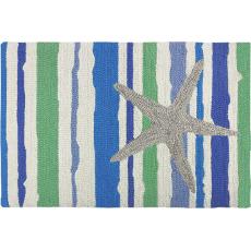 Starfish on Stripes Wild Apple Rug