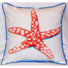 Coral Starfish Outdoor Pillow