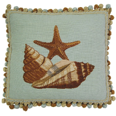 Starfish Needlepoint Pillow