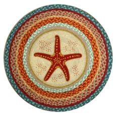 Starfish Braided Jute Round Rug