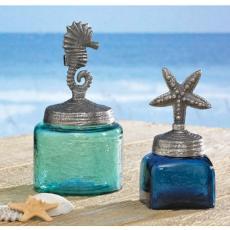 Starfish and Sea Horse Glass Jars