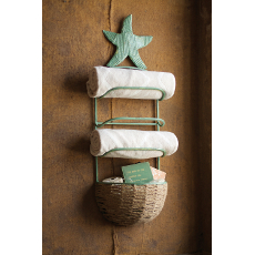 Starfish Towel Rack with Basket