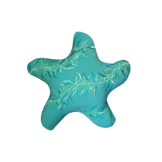 Starfish Shaped Indoor Outdoor Pillow with Seaweed