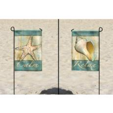 Coastal Calm Garden Flag