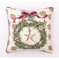 Beach Christmas Pillow II