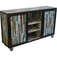 Reclaimed Barnwood Strip Sideboard Table