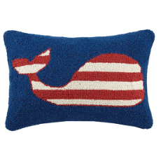 Striped Whale Hook Pillow