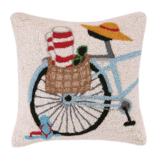 Summer Bike Hook Pillow