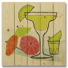 Summer Margaritas Wood Art