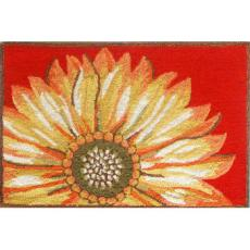 Sunflower Red Indoor Outdoor Rug