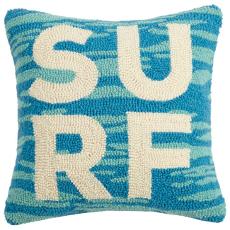 Blue Surfer'S Paradise Script Pillow