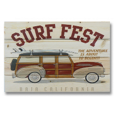 Surf Fest Wood Art