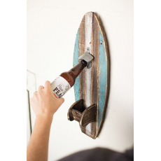 Wooden Surfboard Bottle Opener