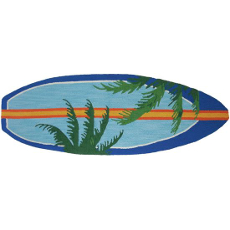 Surfboard Palms Rug