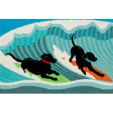 Surfing Dogs Ocean Indoor / Outdoor Rug