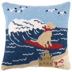 Surfing Dog Hook Pillow