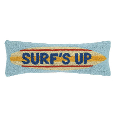 Surfs Up Surfboard Hook Pillow