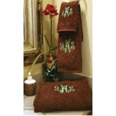 Monogrammed Plush Terry Towel Set