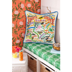 Tampa - St. Pete City Embroidered Pillow