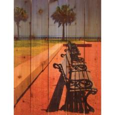 Tropic Benches Wood Art