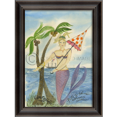 The Captains Sweetheart Mermaid Framed Art