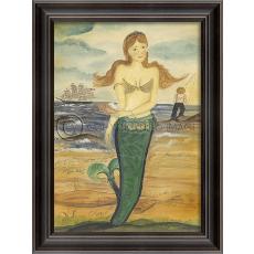 The Story of Esther Island Mermaid Framed Art