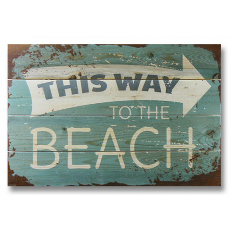 This Way to the Beach Wood Art