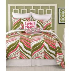 Trina Turk Tiger Leaf Coverlet